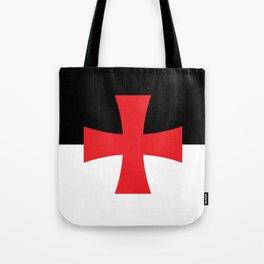 Knights Templar Flag - High Quality Tote Bag
