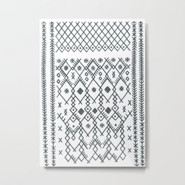 boucherouite - vintage Moroccan pattern Metal Print