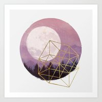 the moon Art Prints featuring moon by Laura Graves