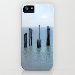 Tokeland, Willapa Bay, Washington Pier, River Pilings iPhone Case