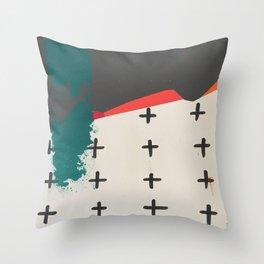 Cross Across the Landscape Throw Pillow