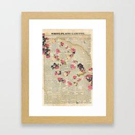 VINTAGE FLOWER COLLAGE Framed Art Print