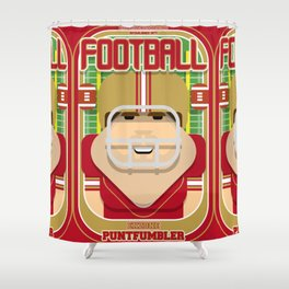 American Football Red and Gold - Enzone Puntfumbler - Bob version Shower Curtain