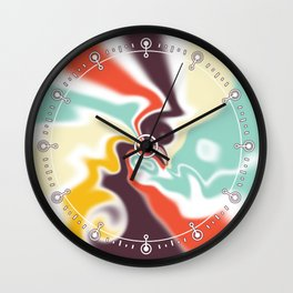 Liquid shapes Wall Clock