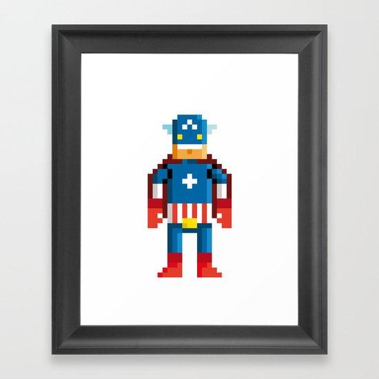 Pixelman America Framed Art Print