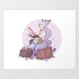 Faun Chloe Art Print