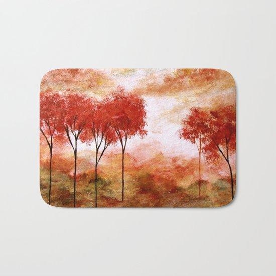 Burning Promise, Abstract Landscape Art Bath Mat