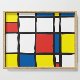 Mondrian Variation 2 Serving Tray