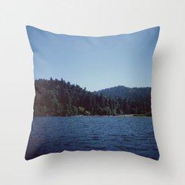 Southern California Lake Day Throw Pillow