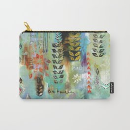 """""""Fly Free Between"""" Original Painting by Flora Bowley Carry-All Pouch"""