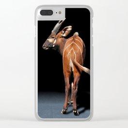 Behind The Scene - Mountain Bongo Antelope Clear iPhone Case