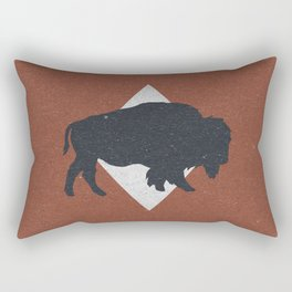 Bison & Blue Rectangular Pillow