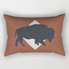 Bison & Blue Rectangular Pillow