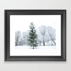 Finnish winter Village Fiskars Framed Art Print