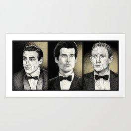 Double-O-Seven Triptych Art Print