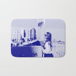 City Girl — Pseudo Risograph Bath Mat