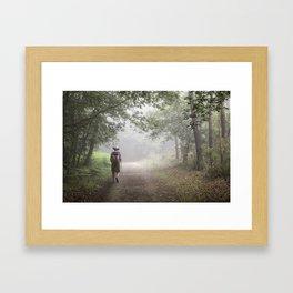 Camino to Santiago de Compostela Framed Art Print