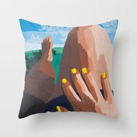 legs Throw Pillows featuring Legs  by Shelley Chandelier