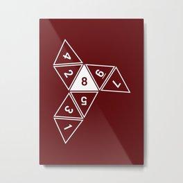 Red Unrolled D8 Metal Print