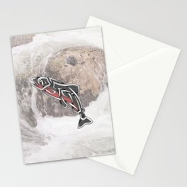 Celtic Knot Salmon Stationery Cards
