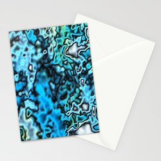 Strange Topography - Aqua Stationery Cards