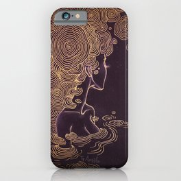 Ripples of Gold iPhone Case