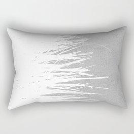 Concrete Fringe White Side Rectangular Pillow