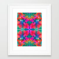 kaleidoscope Framed Art Prints featuring Kaleidoscope by Amy Sia