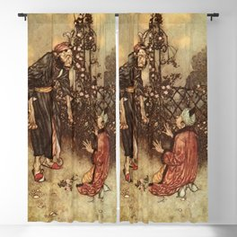 He Dropped The Rose by Edmund Dulac Blackout Curtain