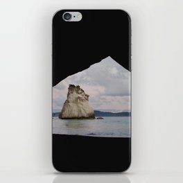 sunrise at cathedral cove iPhone Skin