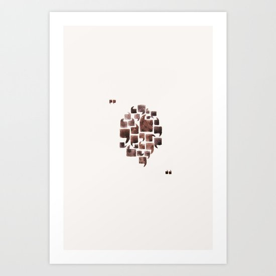 He Said, She Said Art Print