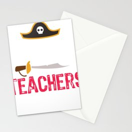 Pirate Teachers Arr Cool Stationery Cards