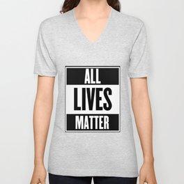 All Lives Matter Unisex V-Neck