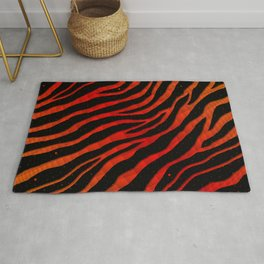 Ripped SpaceTime Stripes - Orange/Red Rug