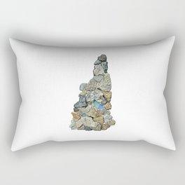 Heart Rock New Hampshire Rectangular Pillow