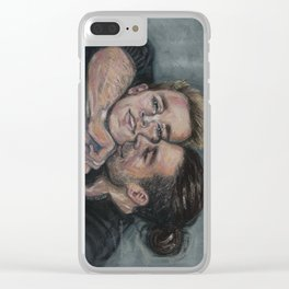 Bucky Hugging Steve Clear iPhone Case