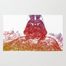 Darth Vader Text Portrait Rug