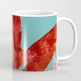 Red Fern on Teal Coffee Mug