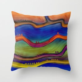 Difference 2 Throw Pillow