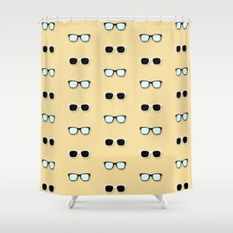 All Them Glasses - Yellow Shower Curtain