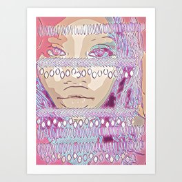 Cotton candy Tribal Art Print