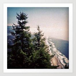 Neahkahnie Mountain Beach Oregon Coast Photo Forest Art Print