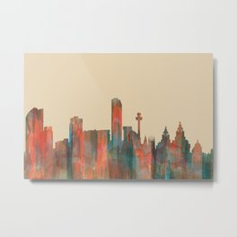 Liverpool, UK skyline - Navaho Metal Print