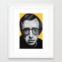 woody allen Framed Art Prints featuring Woody Allen by Black Neon