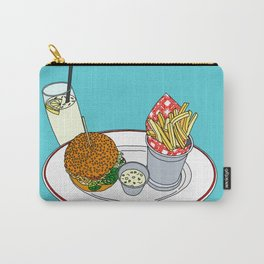 Burger, Chips and Lemonade Carry-All Pouch