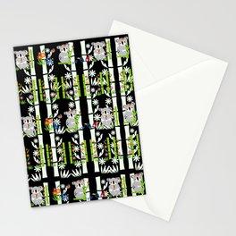 Cute pair of Koalas - Black Stationery Cards
