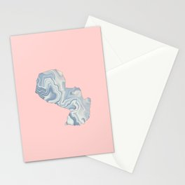 Paraguay map Stationery Cards