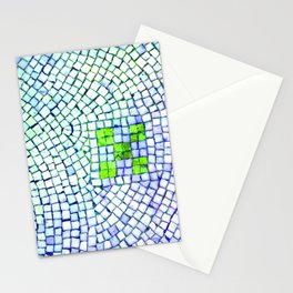 artisan 22.06.16 in lime & shades of blue Stationery Cards