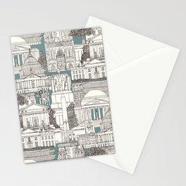 Washington DC toile juniper Stationery Cards