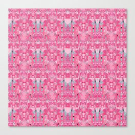 Pink and Blue Abstract Unicorn Psychedelic Print Canvas Print